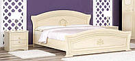 Милано Кровать 160 + ортопедический вклад + тумба прикроватна (комплект 2 шт.) МЕБЕЛЬ СЕРВИС Береза тундра, фото 1