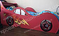 Кровать машина Тачки Shock Cars красная
