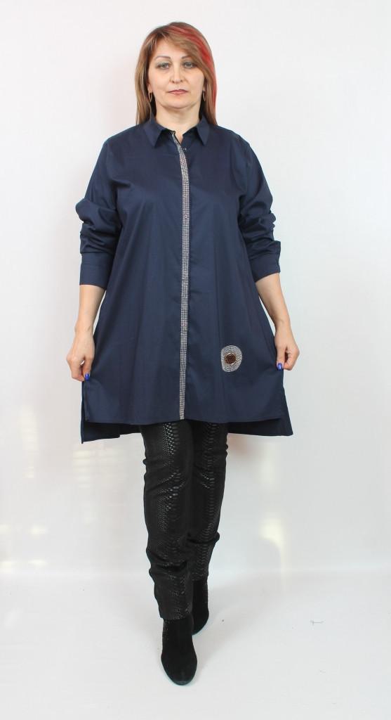 Турецкая женская рубашка-туника Luizza, размеры 58-64