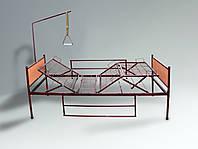 Медицинская функциональная четырехсекционная кровать на колесах для лежачих больных в полной комплектации