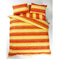 Постельное белье Lotus Ranforce - Metropolis оранжевый двуспальное
