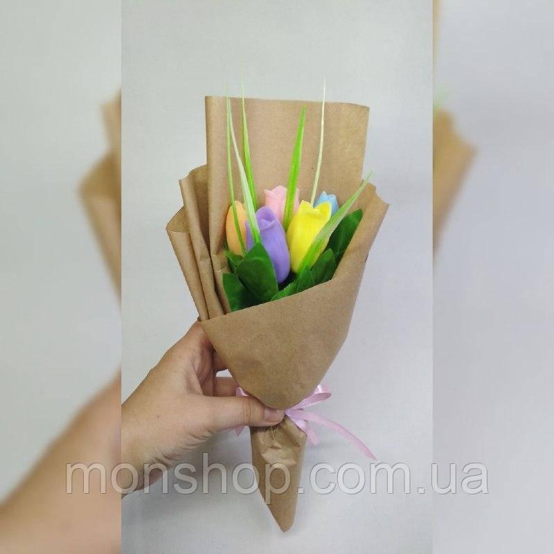 Мыльный букет тюльпанов (5шт.)