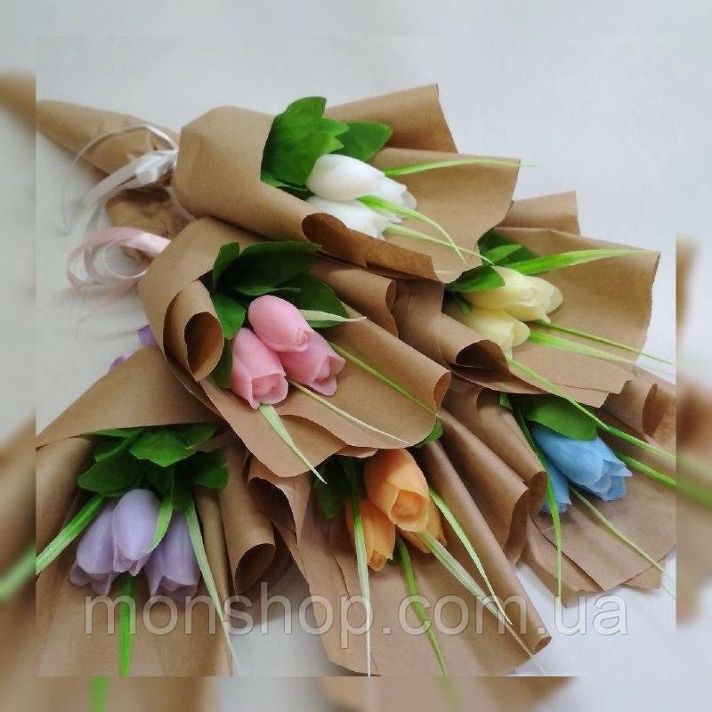 Мыльный букет тюльпанов (3шт.)
