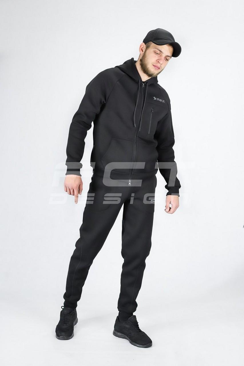 Костюм спортивный Military черный флис