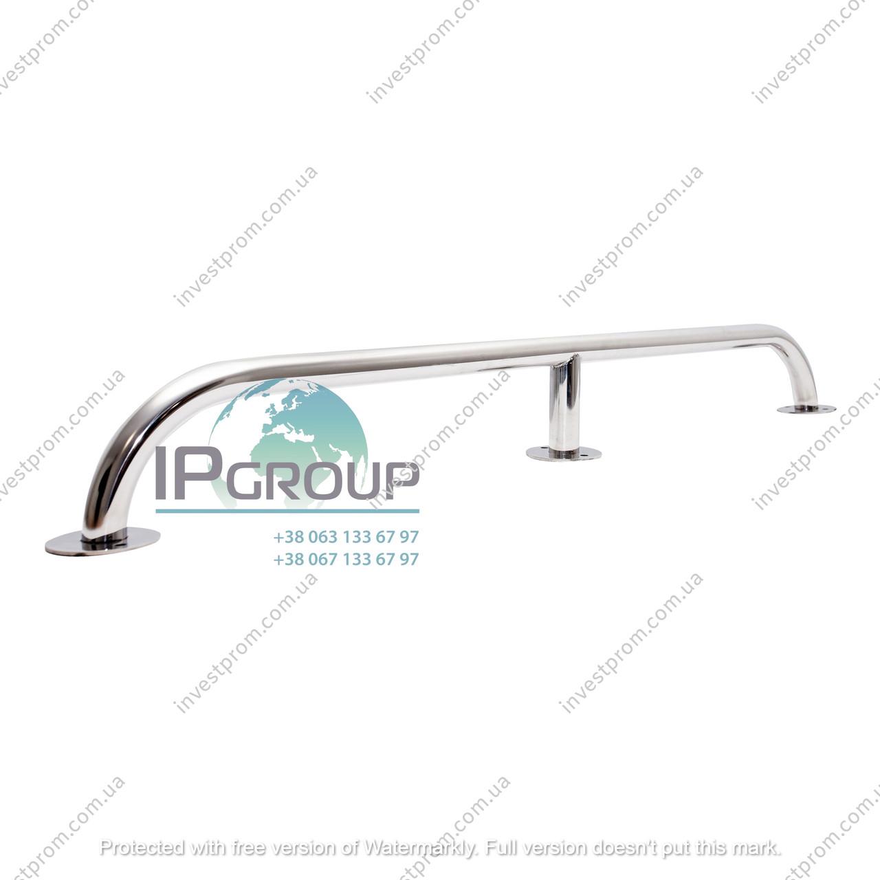 Настенный поручень прямой, усиленный, стационарный, настенный (1000 мм), ручка ∅32 мм, нержавеющая сталь.