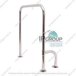 Поручни для унитаза для инвалидов П-образные  с поворотной опорой 800*700мм, ручка ∅32 мм, нержавеющая сталь.