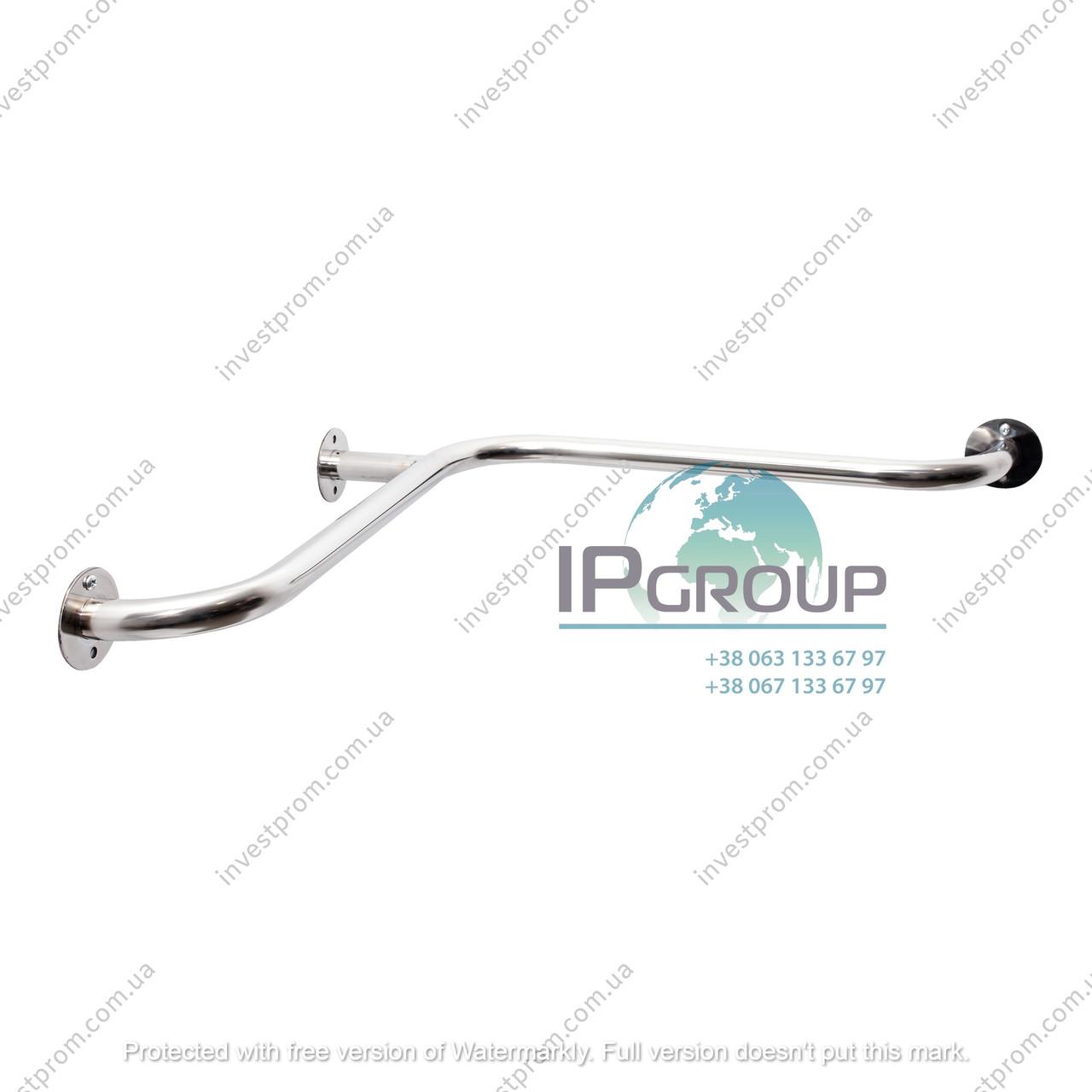 Поручни настенные для инвалидов угловые, внутренние, ручка ∅32 мм, нержавеющая сталь.
