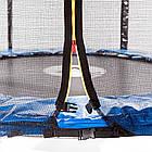 Батут спортивний 183 см Atleto з захисною сіткою до 90 кг, фото 2