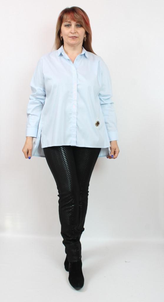 Турецкая женская рубашка Luizza, размеры 50-58