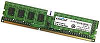 Оперативная память Crucial DDR3 2Gb 1333MHz PC3-10600U CL9 2R8 (CT25664BA1339.M8FKD) Б/У, фото 1