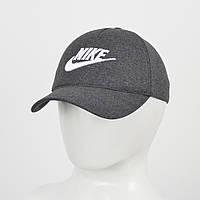 """Бейсболка """"Великий знак"""" Nike сірий меланж +білий, фото 1"""