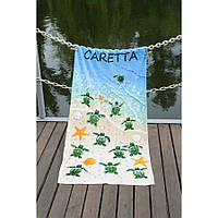 Полотенце Lotus пляжное - Caretta 75*150 велюр