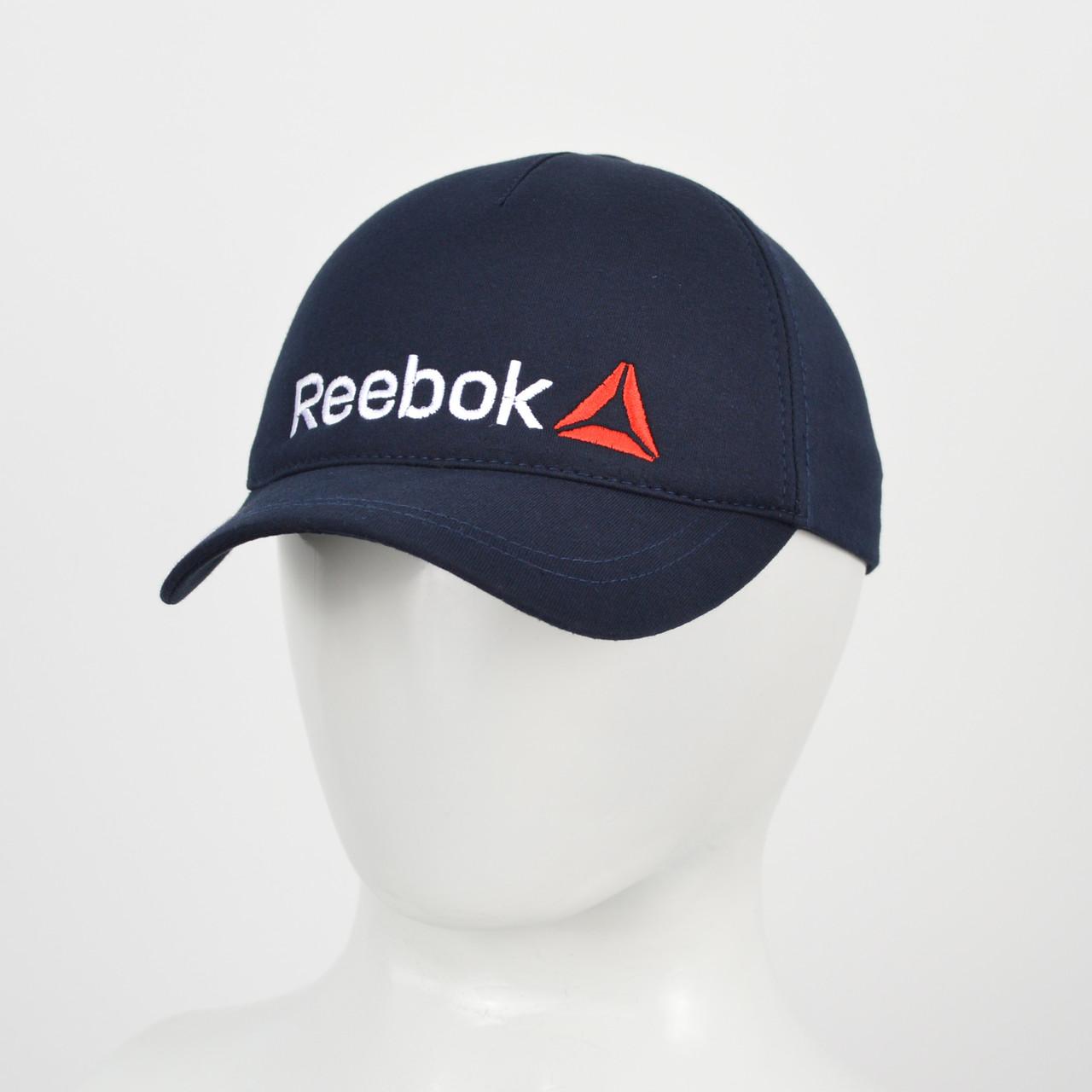 """Бейсболка """"Великий знак"""" Reebok синій+білий"""