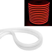 Гибкий светодиодный неон SMD 2835 120/м IP68, 1м красный 12В