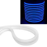 Гибкий светодиодный неон SMD 2835 120/м IP68, 1м синий 12В