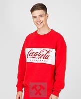 Свитшот мужской весенне-осенний Coca Cola x red / кофта трикотажная / ЛЮКС качество, фото 1