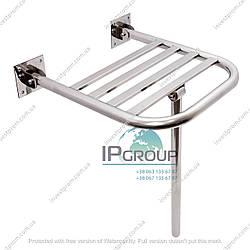 Сиденье для душа откидное настенное, для инвалидов ∅32 мм, нержавеющая сталь.