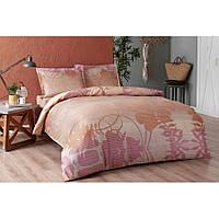 Постельное белье Tac сатин - Marian pembe v03 розовый евро