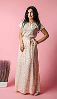 Длинное женское летнее платье из нежной легкой ткани софт