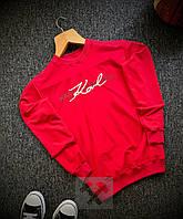 Свитшот мужской весенне-осенний Karl Lagerfeld x red / кофта трикотажная / ЛЮКС качество, фото 1