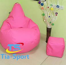 Кресло груша Оксфорд светло Розовый, фото 3