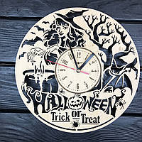 Часы из дерева настенные «Хэллоуин», фото 1