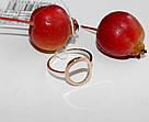 Кольцо серебряное круг с золотом Солнышко, фото 4