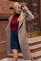 Шикарное брендовое пальто цвета капучино Анджи 7806, фото 1