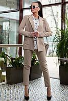 Женский брючный костюм молодежный 42-48 размера кофейный