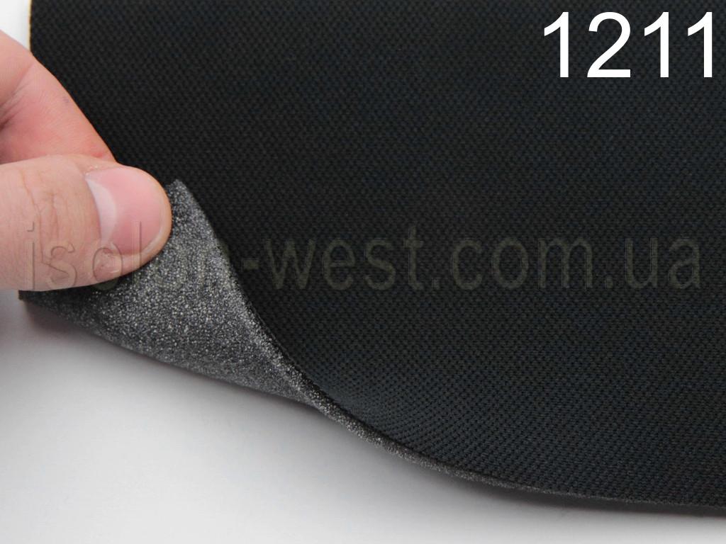 Автоткань оригинальная потолочная 1211, цвет черный, на поролоне 2мм,  ширина 1.45м