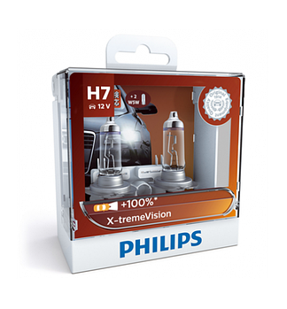 Автомобильные лампы Philips 12V H7 55W +130% X-Treme Vision (12342XVS2)