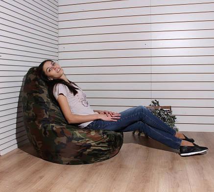 Кресло груша Оксфорд хаки, фото 2