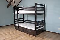 """Двоярусне ліжко Дрімка """"Шрек"""" масив буку"""
