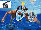 Маска EasyBreath для подводного плавания, дайвинг, снорклинг чёрная, фото 5