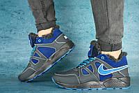 Мужские кроссовки кожаные зимние синие-голубые CrosSAV 46