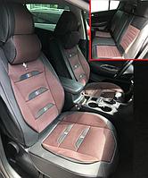 Модельные чехлы Pegas на сидения автомобиля для Nissan перед и зад c подушкой