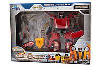 Трансформер-робот со световыми эффектами, Красный (78115-65-1)