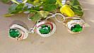 Кольцо и серьги с зеленым цирконом Валерия, фото 4