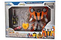 Трансформер-робот со световыми эффектами Оранжевый (78115-65-6)