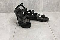 Женские сандали кожаные летние черные StepWey 7561