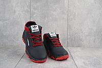 Подростковые кроссовки кожаные зимние синие-красные CrosSav z 39