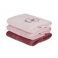 Набор полотенец Beverly Hills Polo Club - 355BHP2263 Pink, Powder, Dusty Rose 50*90(3)