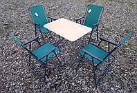 Раскладная туристическая мебель для кемпинга (1 стол+ 4 кресла)