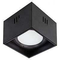 Светодиодный светильник 15W квадрат накладной черный 4200K SANDRA-SQ15/XL