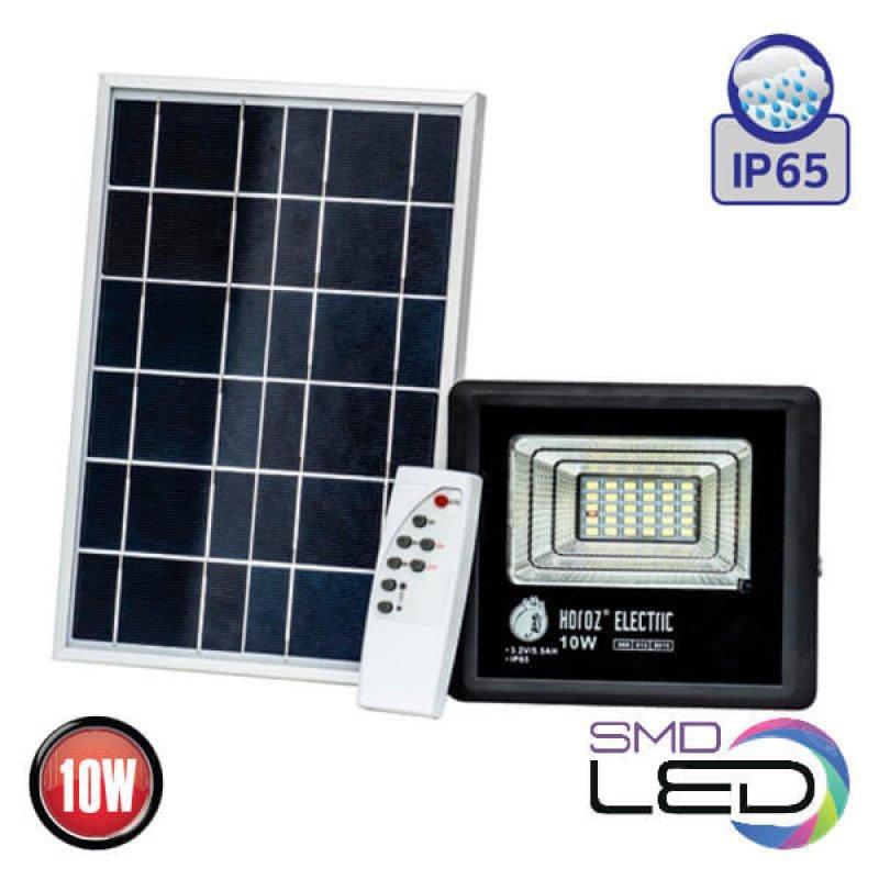Светодиодный прожектор с солнечной панелью 10W TIGER-10 Horoz Electric