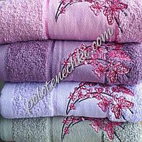 Махровое лицевое полотенце Бабочки на веточке, фото 1
