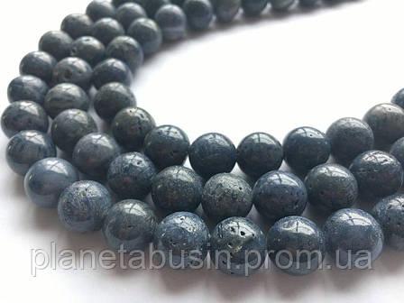 10 мм Губчатый Коралл, Натуральный камень, Форма: Шар, Отверстие: 1-1.5 мм, кол-во: 38-40 шт/нить, фото 2