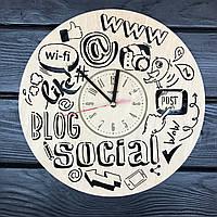 Дизайнерские часы из дерева «Блогерство», фото 1