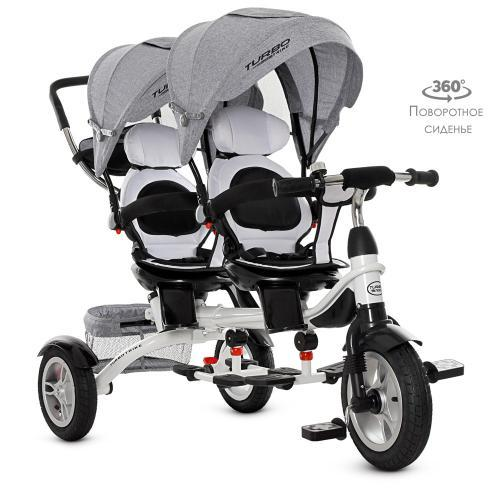 Велосипед  для двойни Turbo Trike M 3116