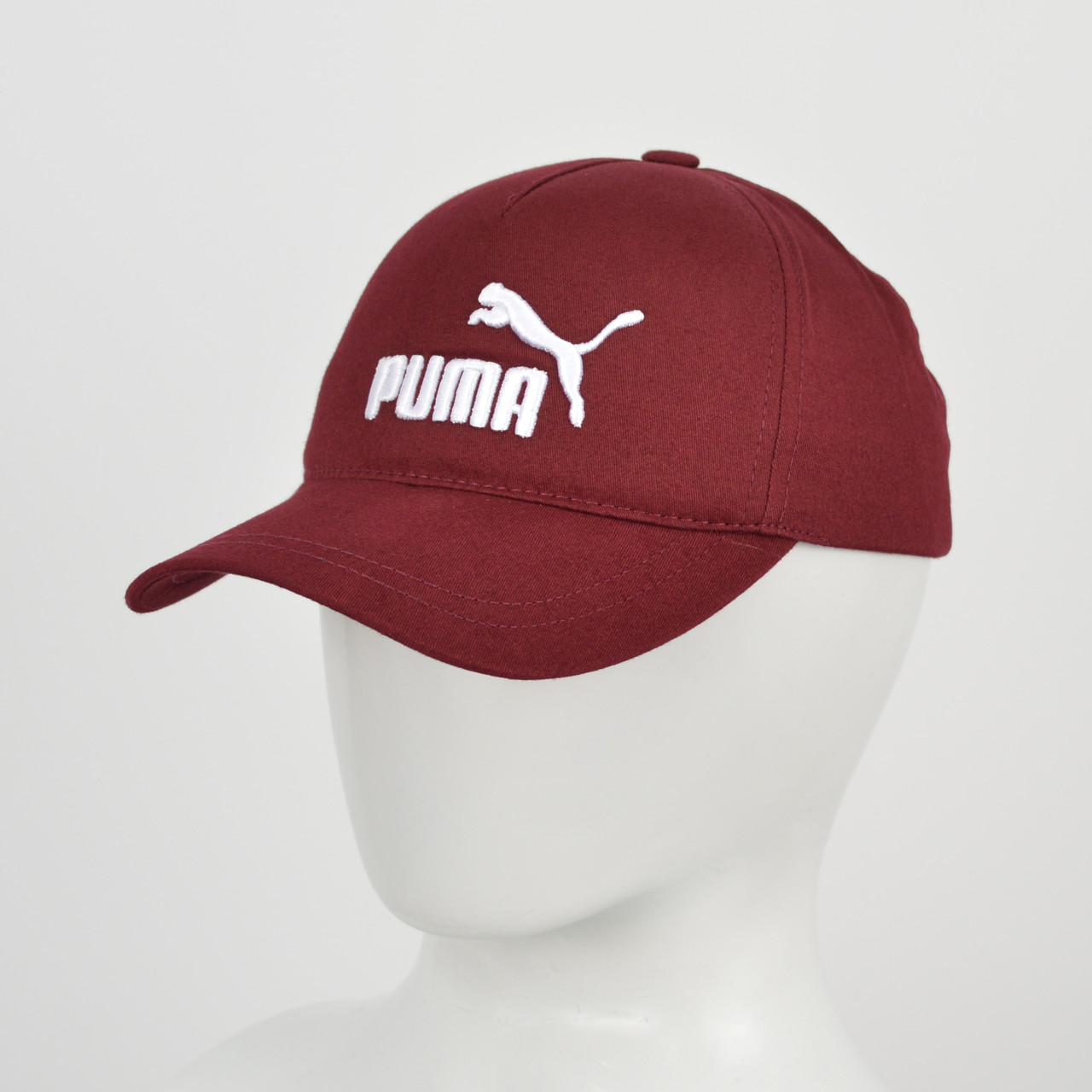 "Бейсболка ""Котон 5кл"" Puma марсала+білий"